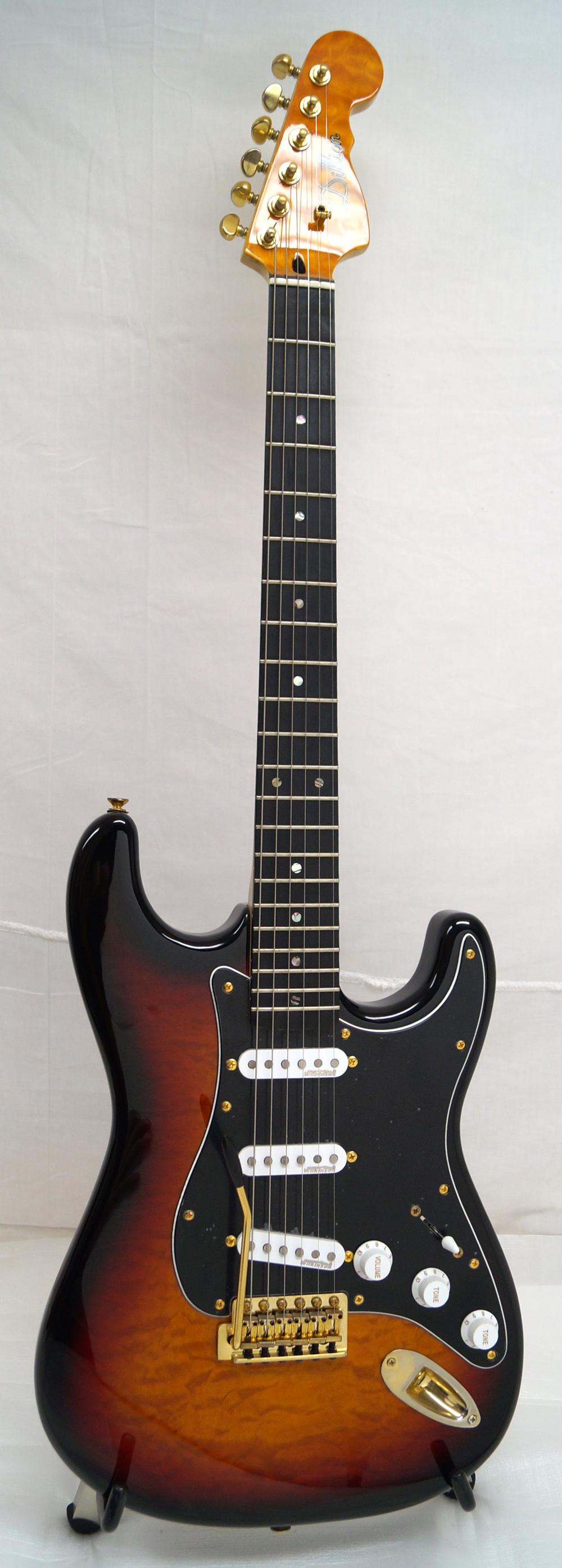 new dillion 300gq electric guitar sunburst quilt finish ebay. Black Bedroom Furniture Sets. Home Design Ideas