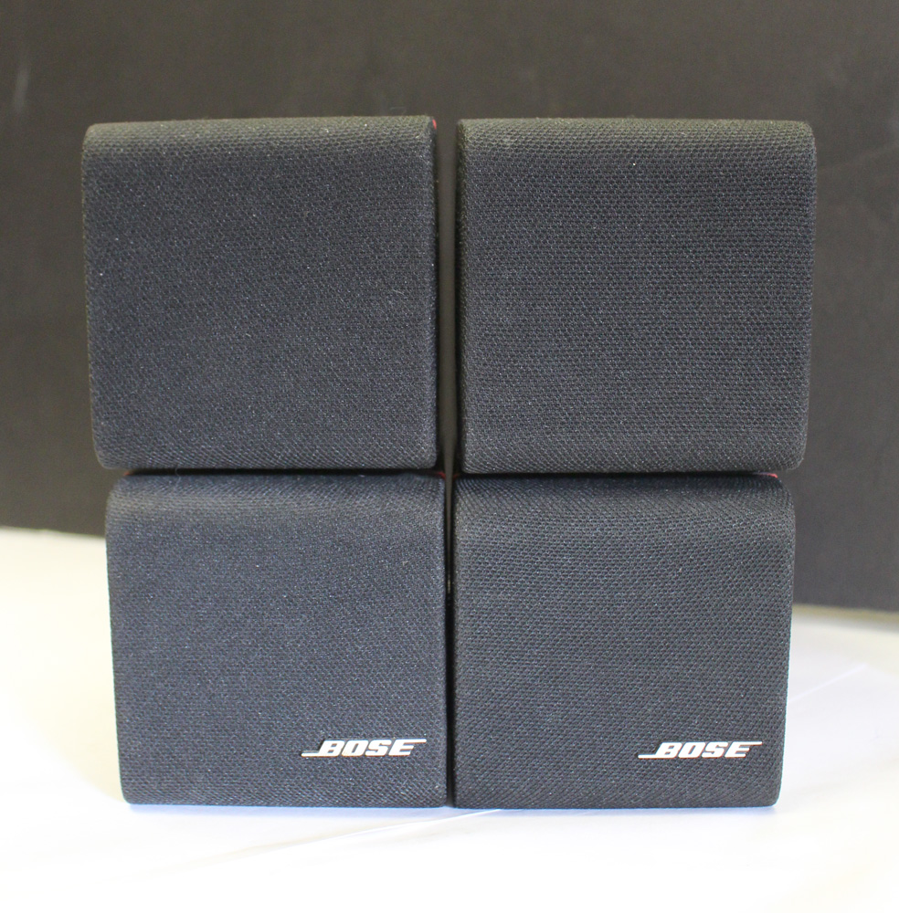 used bose red line lifestyle acoustimass double cube speakers gc ebay. Black Bedroom Furniture Sets. Home Design Ideas