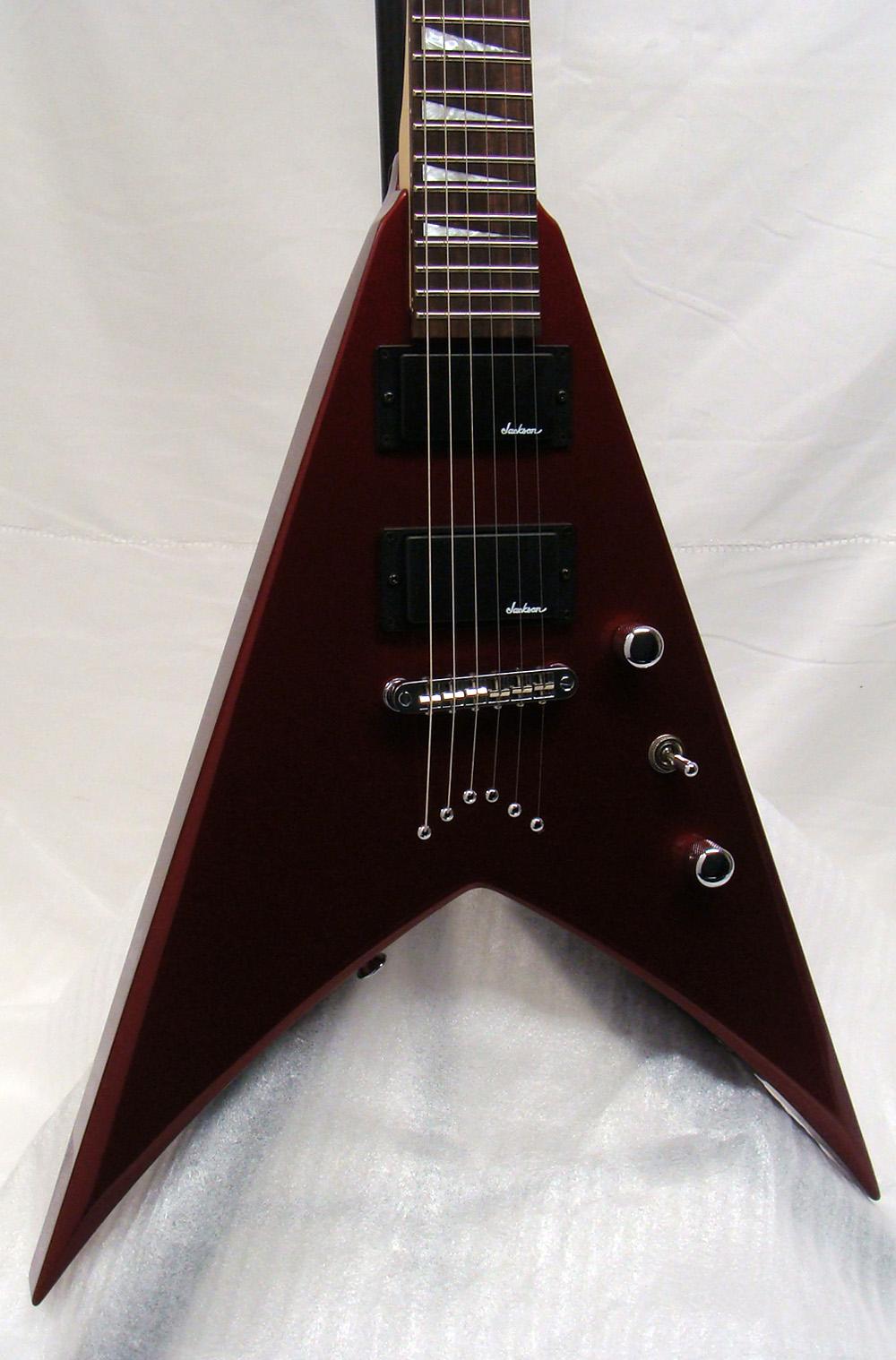 new jackson js32 king v electric guitar inferno red w gig bag ebay. Black Bedroom Furniture Sets. Home Design Ideas