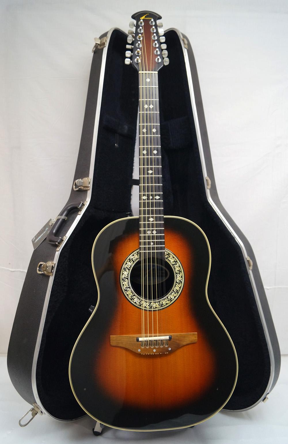 used ovation 1755 balladeer 12 string acoustic electric guitar vgc ebay. Black Bedroom Furniture Sets. Home Design Ideas